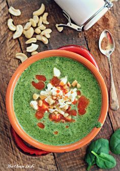 Easy Spinach Cashew Cream Soup {vegan, grain free, gluten free} (edits)