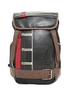 505485322c An Assassin s Creed suit backpack with button and buckle detail looks  timelessly cool. 2 water bottle pockets