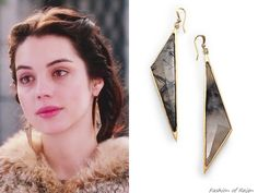 In episodes 1x21 and 2x12 Mary wears these sold out Kelly Wearstler Larisa Quartz Earrings.