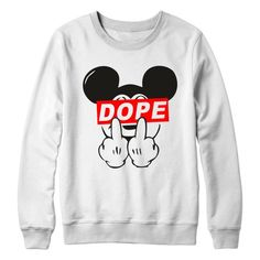 Mickey Mouse Dope Sweatshirt Jumper Pullover Men's by DixFashion, £17.99