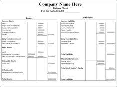Printable Blank Balance Sheet Template Download Free