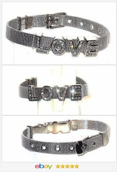 LOVE Bracelet Buckle Style Steel and crystal USA Seller  #ebay http://stores.ebay.com/JEWELRY-AND-GIFTS-BY-ALICE-AND-ANN