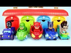 PJ Masks Garage Surprise Eggs Blind Bag Opening with Catboy Romeo Owlette Gekko Car Drawing for Kids - YouTube