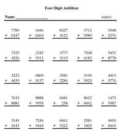 Hard Multiplication Digit Problems  Multiple Digit