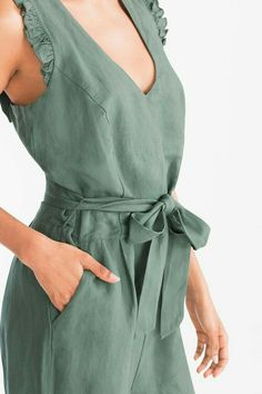 Jumpsuit - linen blend now at the C&A online shop – Fast delivery✓ Top quality✓ Great prices✓ Cotton Dresses, Cute Dresses, Casual Dresses, Dress Outfits, Fashion Dresses, Outfit Trends, Western Outfits, Jumpsuit Dress, Casual Wear