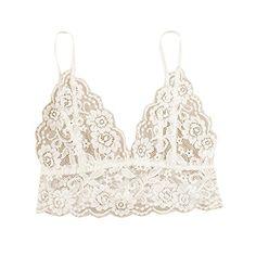 868d8abbf31ac Bestpriceam Womens Sexy Lace Floral Bralette Spaghetti Strap Bra Club Crop  Top S White   Check