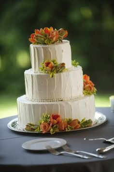 Jeffrey A. Miller Catering cake. Simple and beautiful.