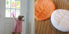 10 Nature Art Projects for Kids - Flower Stained Glass and Sculpey Nature Prints