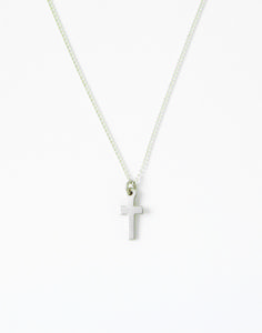 Sterling Silver Children's Cross Necklace - Small Simple on SonGear.com - Christian Shirts, Jewelry