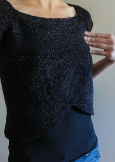 'shift of focus' in Ravelry - Really love this, especially this color. Top-down, one piece, pullover..