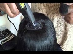Make a Full Wig with Hot Glue Gun (Best way to cut bangs) ~ First YouTube on Wigs I've seen using a Wig Closure - nice to know about them, makes it look much nicer IMO