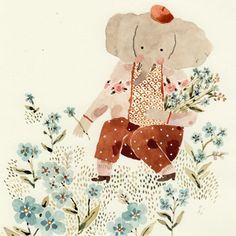 Likes, 74 Comments - cécile metzger Elephant Hat, Little Elephant, Fantasy Witch, Sweet Sundays, Art Anime, Kids Poster, Cecile, Illustrators On Instagram, Children's Book Illustration