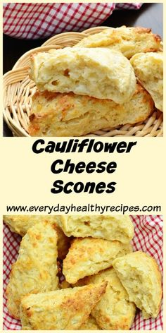 Cauliflower Cheese Scones These savoury Cauliflower Cheese Scones are perfect to add to your Sunday brunch menu or pop in your picnic basket or your child's lunchbox – they require minimal kneading and only 15 minutes in the oven! #scones #biscuit #easylunchbox #cauliflower #healthyrecipe #cheese #lowcarb #everydayhealthyrecipes #brunch
