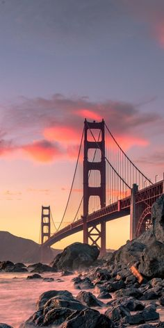 Golden Gate Bridge, San Francisco, USA, autumn, (vertical) You are in the right place about winte City Wallpaper, Sunset Wallpaper, Wallpaper Pictures, Bridge Wallpaper, Travel Wallpaper, Wallpaper Desktop, Ponte Golden Gate, Golden Gate Bridge, City Aesthetic