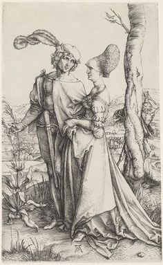Albrecht Dürer, Promenade, c. 1497. Harvard Art Museums/Fogg Museum.