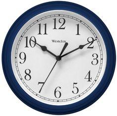"Westclox 46985 9"" Round Wall Clock, Blue Price: $19.99 #WallClocks #Clocks #HomeDecor"