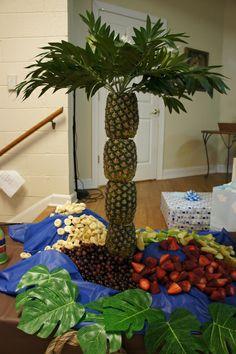 Faire le palmier sur la table de desserts