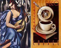Deco Americana Coffee ~ by Tamara de Lempicka (1898-1980) Polish born American Art Deco painter. http://media.smashingmagazine.com/wp-content/uploads/2009/12/Art-Deco3.jpg