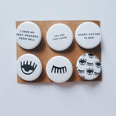 Tumblr alternativa moda unico malocchio Quotes Bae distintivi Pin pulsante regalo Turnt Rad Hipster Kawaii Meme
