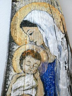 Blessed Mother Mary and the Christ Child  Original by Art4thesoul, $150.00