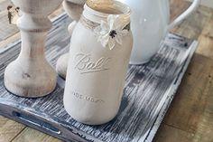 Large Beige Mason Jar - Farmhouse Mason Jar - Venue and reception decor (*Amazon Partner-Link)