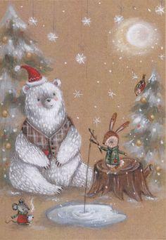 Alice Wong - Polar Christmas  Bear and Friends
