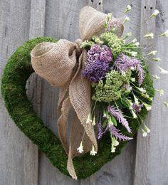 Valentine Wreath Moss Wreath Heart Wedding von NewEnglandWreath
