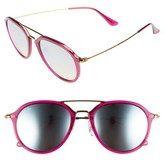 Women's Ray-Ban 53Mm Aviator Sunglasses - Brown