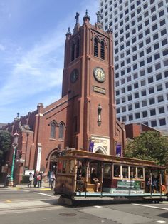 Old Saint Mary's Cathedral in San Francisco, CA. Looking for a Tuesday lunch break? Try the Noon Time concert series Tuesdays at 12:30 at Old Saint Mary's in the Financial District. It's a great way to wind down, reflect, and change up your pace during the work day. Pinned by www.drmelindadouglass.com | #music #SFFinancialDistrict #lunchbreak