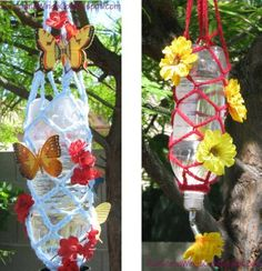 Hummingbird Feeder with Recycled Products
