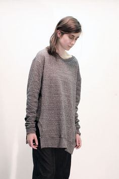 100% cotton double knit fabric made in japanrib neck and hemthis perfectly oversize long ...