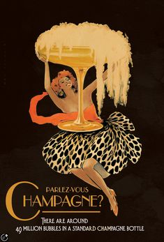 Absa Champagne Festival poster by Vince McIndoe