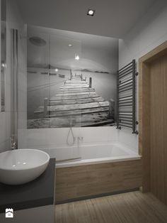 Aranżacje wnętrz - Łazienka: łazienka z fototapetą - ZAWICKA-ID Projektowanie wnętrz. Przeglądaj, dodawaj i zapisuj najlepsze zdjęcia, pomysły i inspiracje designerskie. W bazie mamy już prawie milion fotografii!