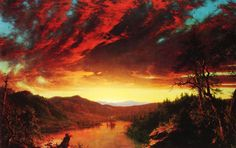 "Hudson River School artist, Frederic Edwin Church, ""Twilight in the Wilderness"""