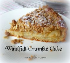Windfall Crumble Cakefrom The English Kitchen - serve with vanilla ice cream!
