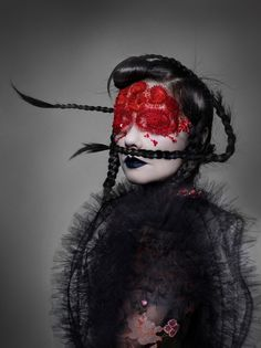 """#Björk is transformed in a series of decadent face applications by Peter Philips for #Dior"""