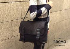 The classique BROMO black satchel bag