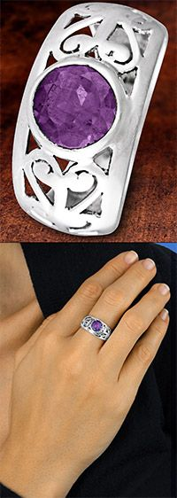 Sterling Filigree & Amethyst Ring at The Animal Rescue Site Buy this ring for 22.99 and they can purchase 28 bowls of food for animals in need!