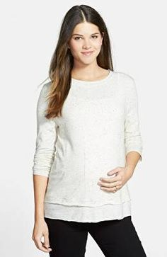 71c435c152f LOYAL HANA Designer 'Christy' Long Sleeve Maternity/Nursing Top Hatch  Maternity, Maternity