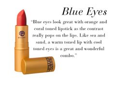 The Best Lipstick Shades for Every Eye Color / blue eyes / Lipstick Queen orangey red