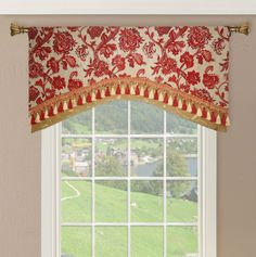 Double Layered Arched Valance #valances