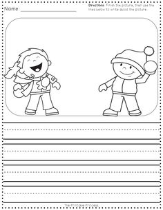 FREEBIE! Story starters and other winter theme printables.