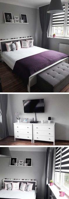 Elegancka sypialnia w stylu skandynawskim, sypialnia skandynawska #bedroom