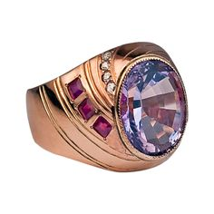 Antique Russian Amethyst Ring | From a unique collection of vintage dome rings at http://www.1stdibs.com/jewelry/rings/dome-rings/