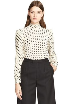 RED Valentino Polka Dot Bow Silk Blouse available at #Nordstrom