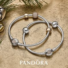Keep it classic this holiday with PANDORA Jewellery. Mixing sterling silver and 14k gold creates a timeless look and a pop of pavé will give you just enough dazzle.