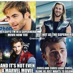 Yea but Wonder Woman was awesome so yay Go Chris! (Pine) (and the rest of you too)