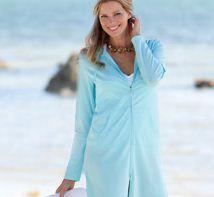 Sun protection beach jacket