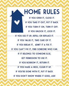 house rules for roommates example - Google Search | Cleaning ideas ...