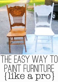 paint furniture hmmmmmmmmm, I actually have these very same chairs, although one is now toast and another is breaking.  I wouldn't choose white, but this might be a nice change.